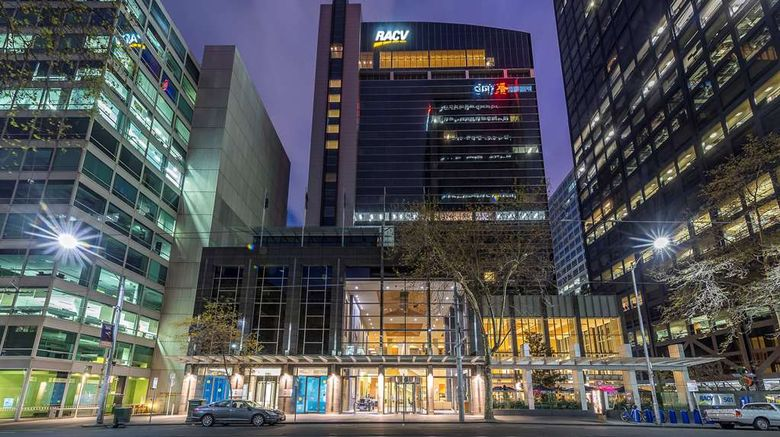 """RACV City Club Exterior. Images powered by <a href=""""http://web.iceportal.com"""" target=""""_blank"""" rel=""""noopener"""">Ice Portal</a>."""