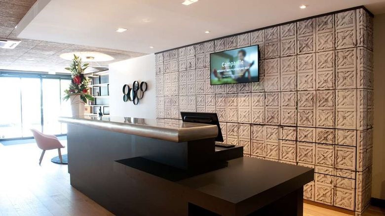 """<b>Campanile Limoges Centre-Gare Lobby</b>. Images powered by <a href=""""https://iceportal.shijigroup.com/"""" title=""""IcePortal"""" target=""""_blank"""">IcePortal</a>."""