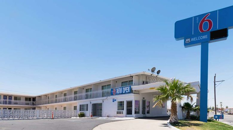 """Motel 6 Barstow, CA - Route 66 Exterior. Images powered by <a href=""""http://web.iceportal.com"""" target=""""_blank"""" rel=""""noopener"""">Ice Portal</a>."""