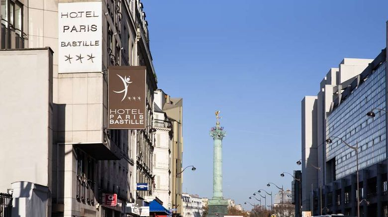 """Paris Bastille Exterior. Images powered by <a href=""""http://web.iceportal.com"""" target=""""_blank"""" rel=""""noopener"""">Ice Portal</a>."""