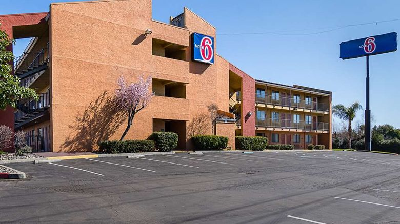 """Motel 6 Stockton Exterior. Images powered by <a href=""""http://web.iceportal.com"""" target=""""_blank"""" rel=""""noopener"""">Ice Portal</a>."""
