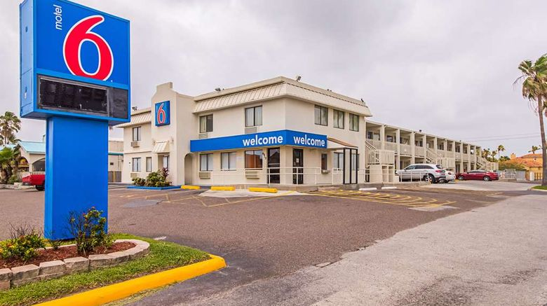 """Motel 6 South Padre Island Exterior. Images powered by <a href=""""http://web.iceportal.com"""" target=""""_blank"""" rel=""""noopener"""">Ice Portal</a>."""