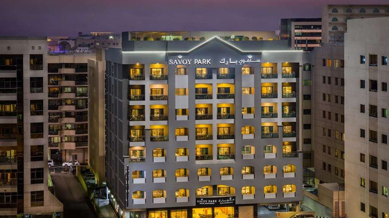 """Savoy Park Hotel Apartments Exterior. Images powered by <a href=""""http://web.iceportal.com"""" target=""""_blank"""" rel=""""noopener"""">Ice Portal</a>."""