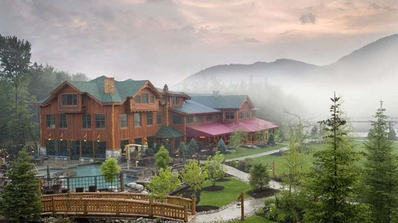 """The Whiteface Lodge Resort  and  Spa Exterior. Images powered by <a href=""""http://web.iceportal.com"""" target=""""_blank"""" rel=""""noopener"""">Ice Portal</a>."""