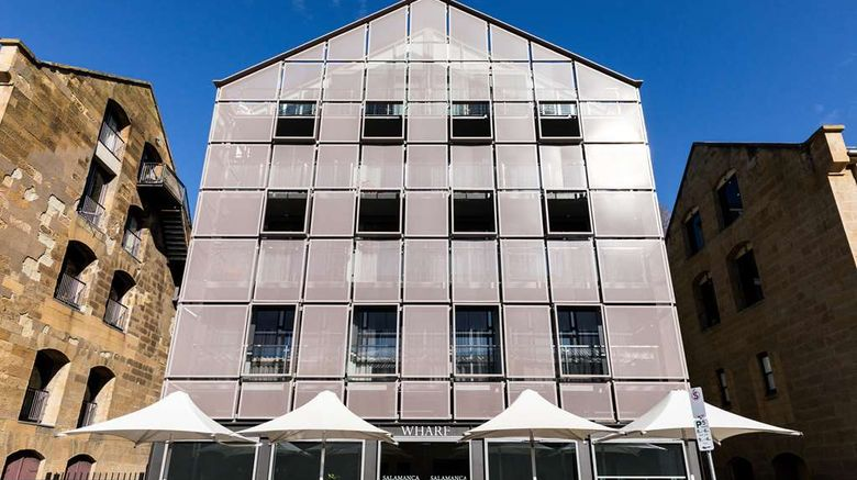 """Salamanca Wharf Hotel Exterior. Images powered by <a href=""""http://web.iceportal.com"""" target=""""_blank"""" rel=""""noopener"""">Ice Portal</a>."""