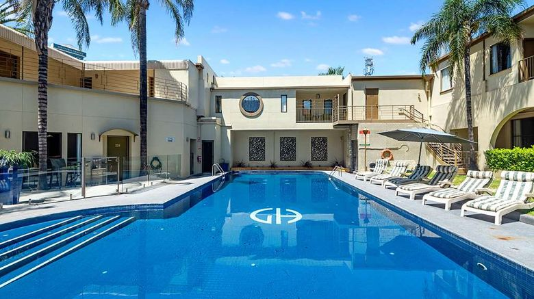 """<b>Quality Hotel Mildura Grand Pool</b>. Images powered by <a href=""""https://iceportal.shijigroup.com/"""" title=""""IcePortal"""" target=""""_blank"""">IcePortal</a>."""