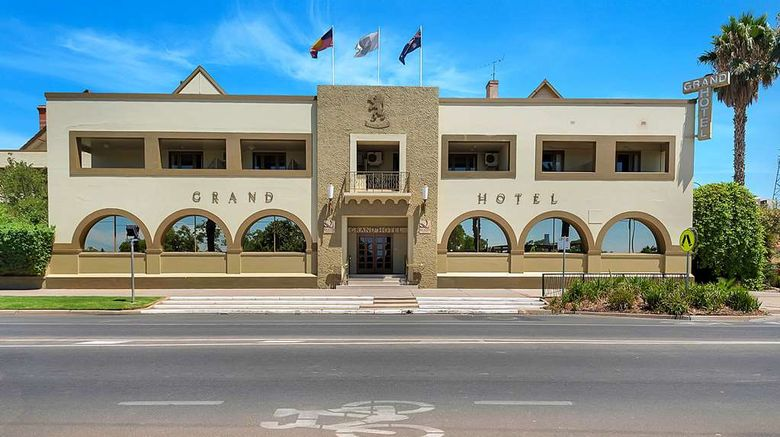 """<b>Quality Hotel Mildura Grand Exterior</b>. Images powered by <a href=""""https://iceportal.shijigroup.com/"""" title=""""IcePortal"""" target=""""_blank"""">IcePortal</a>."""