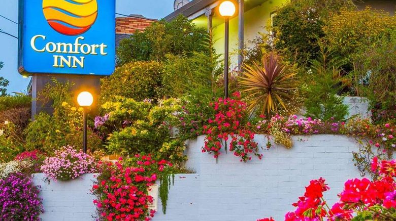 """Comfort Inn Monterey Bay Exterior. Images powered by <a href=""""http://web.iceportal.com"""" target=""""_blank"""" rel=""""noopener"""">Ice Portal</a>."""