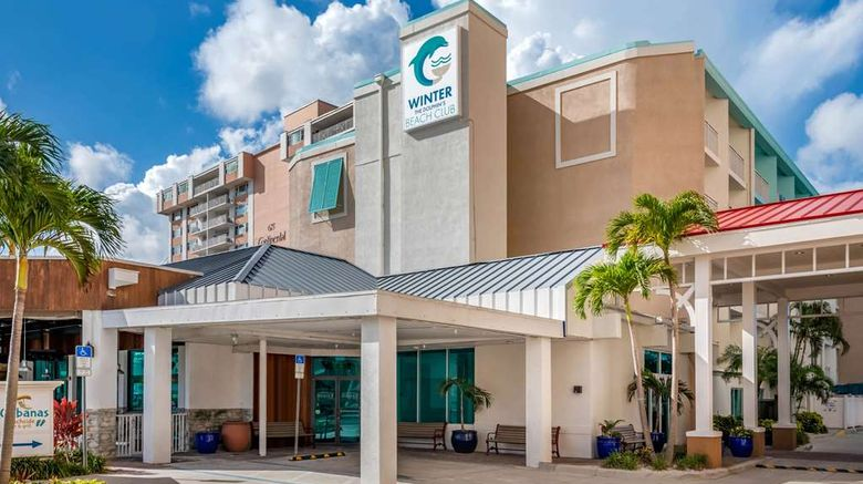 """Winter The Dolphins Beach Club Exterior. Images powered by <a href=""""http://web.iceportal.com"""" target=""""_blank"""" rel=""""noopener"""">Ice Portal</a>."""