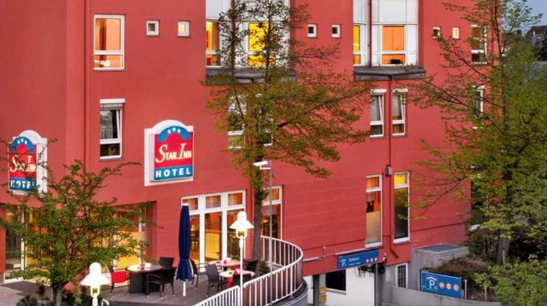 """Comfort Hotel Star Inn Zentrum Exterior. Images powered by <a href=""""http://web.iceportal.com"""" target=""""_blank"""" rel=""""noopener"""">Ice Portal</a>."""