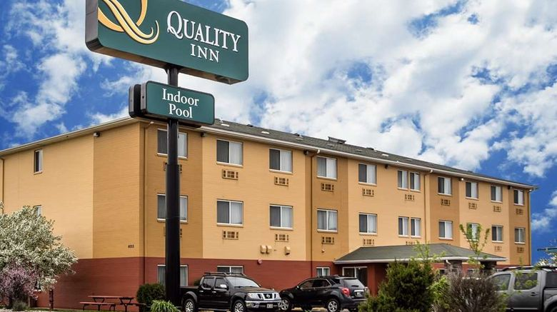 """Quality Inn Dubuque Exterior. Images powered by <a href=""""http://web.iceportal.com"""" target=""""_blank"""" rel=""""noopener"""">Ice Portal</a>."""