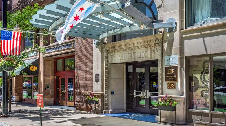 """Hotel Blake Chicago, an Ascend Hotel Exterior. Images powered by <a href=""""http://web.iceportal.com"""" target=""""_blank"""" rel=""""noopener"""">Ice Portal</a>."""