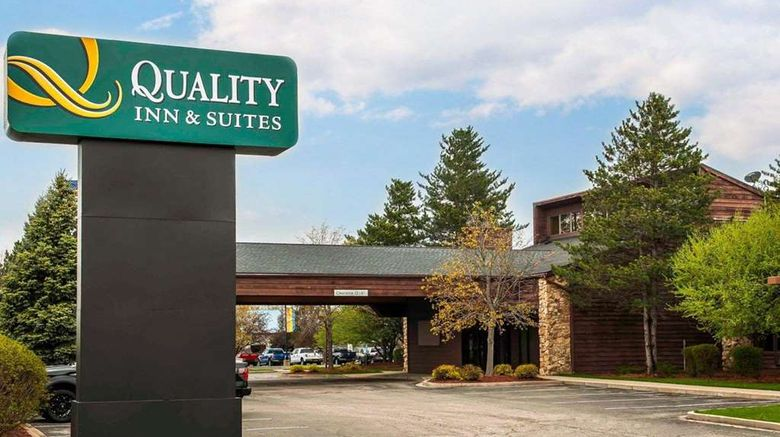 """Quality Inn  and  Suites, Goshen Exterior. Images powered by <a href=""""http://web.iceportal.com"""" target=""""_blank"""" rel=""""noopener"""">Ice Portal</a>."""