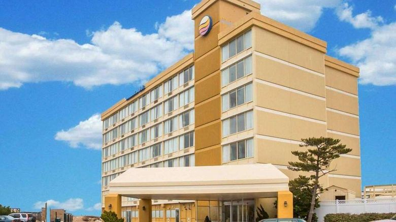 """Comfort Inn Oceanfront South Exterior. Images powered by <a href=""""http://web.iceportal.com"""" target=""""_blank"""" rel=""""noopener"""">Ice Portal</a>."""