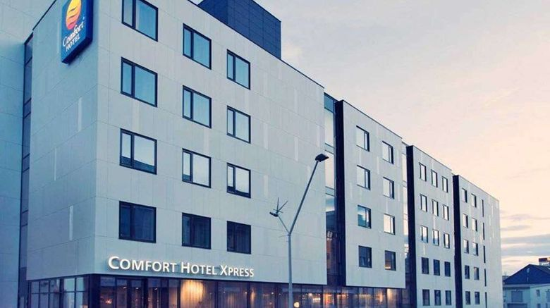 """Comfort Hotel Xpress Tromso Exterior. Images powered by <a href=""""http://web.iceportal.com"""" target=""""_blank"""" rel=""""noopener"""">Ice Portal</a>."""