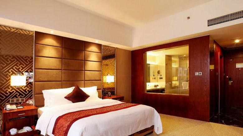 "Blue Horizon Intel Hotel Gaomi Room. Images powered by <a href=""http://www.leonardo.com"" target=""_blank"" rel=""noopener"">Leonardo</a>."