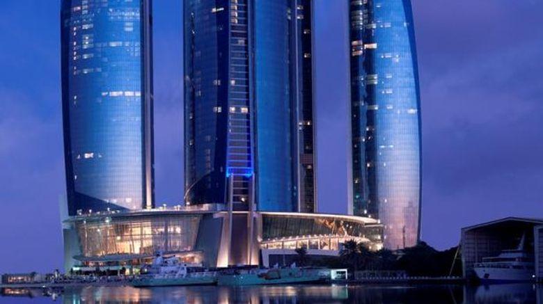 "Jumeirah at Etihad Towers Hotel Exterior. Images powered by <a href=""http://www.leonardo.com"" target=""_blank"" rel=""noopener"">Leonardo</a>."