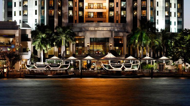 """The Peninsula Bangkok Exterior. Images powered by <a href=""""http://www.leonardo.com"""" target=""""_blank"""" rel=""""noopener"""">Leonardo</a>."""