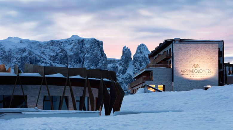 "Alpina Dolomites Gardena Health Lodge Exterior. Images powered by <a href=""http://www.leonardo.com"" target=""_blank"" rel=""noopener"">Leonardo</a>."