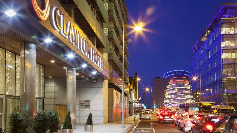 "Clayton Hotel Cardiff Lane Exterior. Images powered by <a href=""http://www.leonardo.com"" target=""_blank"" rel=""noopener"">Leonardo</a>."