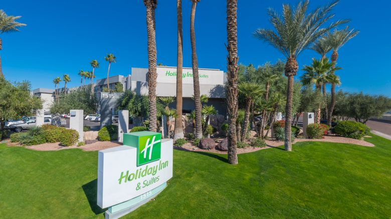 """Holiday Inn  and  Suites Phoenix-Airport N Exterior. Images powered by <a href=""""http://www.leonardo.com"""" target=""""_blank"""" rel=""""noopener"""">Leonardo</a>."""