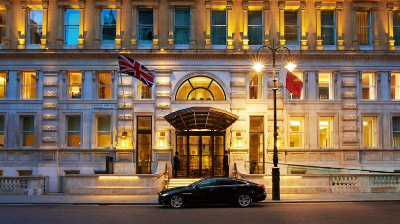 "Corinthia Hotel London Exterior. Images powered by <a href=""http://www.leonardo.com"" target=""_blank"" rel=""noopener"">Leonardo</a>."