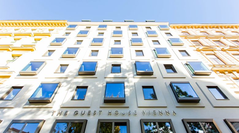 """The Guesthouse Vienna, a Design Hotel Exterior. Images powered by <a href=""""http://www.leonardo.com"""" target=""""_blank"""" rel=""""noopener"""">Leonardo</a>."""