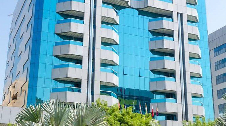 """Avenue Hotel Dubai Exterior. Images powered by <a href=""""http://www.leonardo.com"""" target=""""_blank"""" rel=""""noopener"""">Leonardo</a>."""