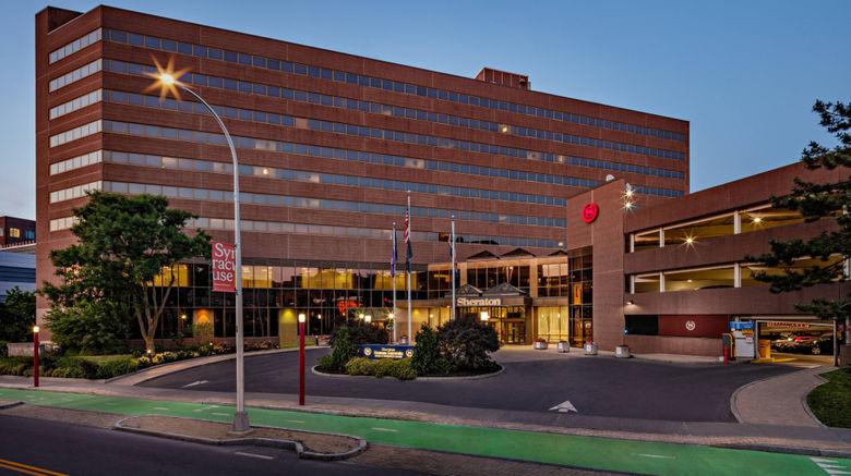 "Sheraton Syracuse Univ Hotel  and  Conf Ctr Exterior. Images powered by <a href=""http://www.leonardo.com"" target=""_blank"" rel=""noopener"">Leonardo</a>."