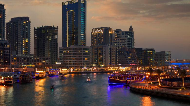 """Rove Dubai Marina Exterior. Images powered by <a href=""""http://www.leonardo.com"""" target=""""_blank"""" rel=""""noopener"""">Leonardo</a>."""
