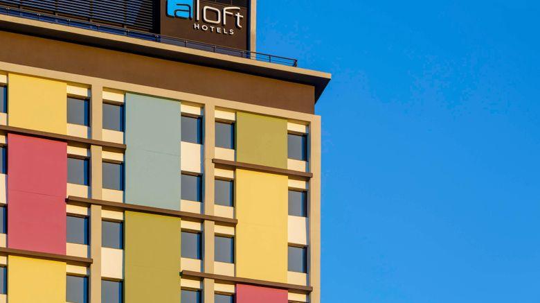 """Aloft Asuncion Exterior. Images powered by <a href=""""http://www.leonardo.com"""" target=""""_blank"""" rel=""""noopener"""">Leonardo</a>."""
