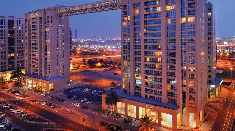 """Marriott Exec Apts Dubai Creek Exterior. Images powered by <a href=""""http://www.leonardo.com"""" target=""""_blank"""" rel=""""noopener"""">Leonardo</a>."""