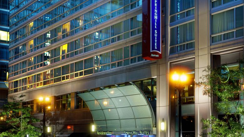 """SpringHill Suites Downtown/River North Exterior. Images powered by <a href=""""http://www.leonardo.com"""" target=""""_blank"""" rel=""""noopener"""">Leonardo</a>."""