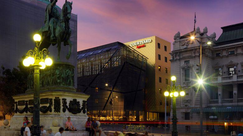"<b>Courtyard Marriott Belgrade City Center Exterior</b>. Images powered by <a href=""https://leonardo.com/"" title=""Leonardo Worldwide"" target=""_blank"">Leonardo</a>."