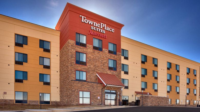 """TownePlace Suites Dickinson Exterior. Images powered by <a href=""""http://www.leonardo.com"""" target=""""_blank"""" rel=""""noopener"""">Leonardo</a>."""