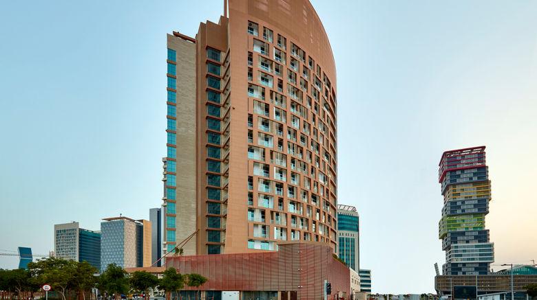 "Staybridge Suites Doha Lusail Exterior. Images powered by <a href=""http://www.leonardo.com"" target=""_blank"" rel=""noopener"">Leonardo</a>."