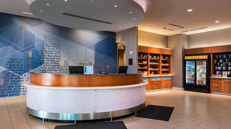 """SpringHill Suites Pittsburgh Southside W Lobby. Images powered by <a href=""""http://www.leonardo.com"""" target=""""_blank"""" rel=""""noopener"""">Leonardo</a>."""