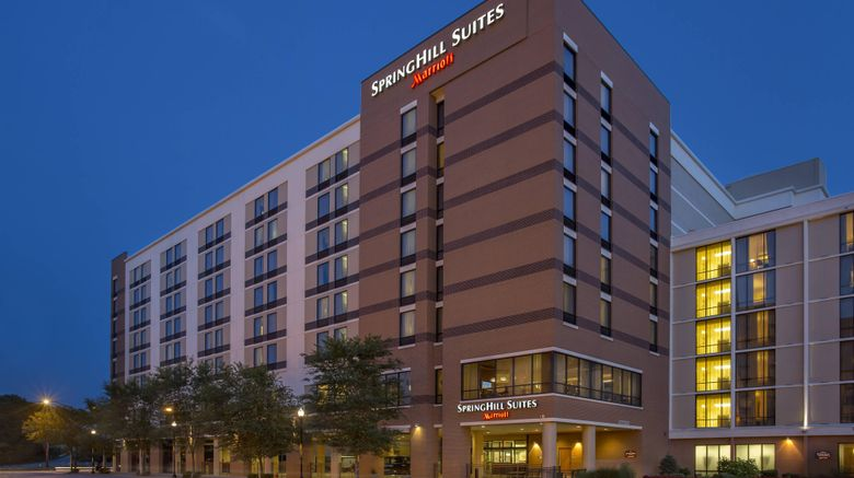"""SpringHill Suites Louisville Downtown Exterior. Images powered by <a href=""""http://www.leonardo.com"""" target=""""_blank"""" rel=""""noopener"""">Leonardo</a>."""