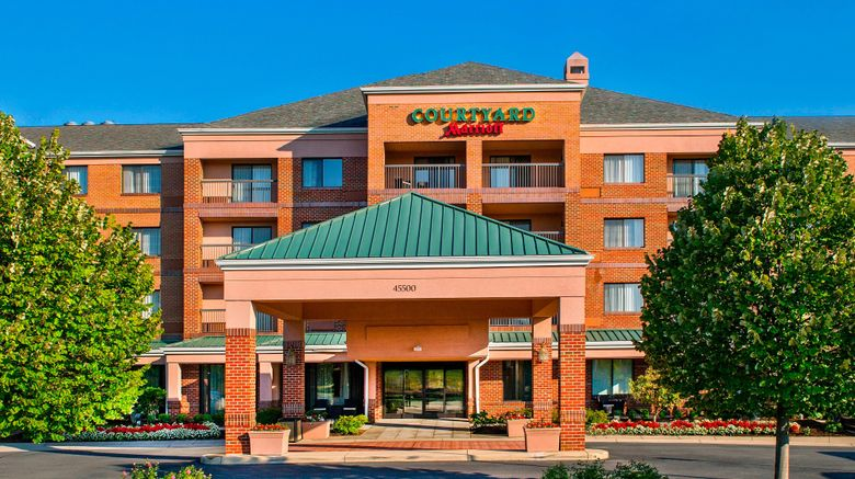 """Courtyard by Marriott Dulles Town Center Exterior. Images powered by <a href=""""http://www.leonardo.com"""" target=""""_blank"""" rel=""""noopener"""">Leonardo</a>."""