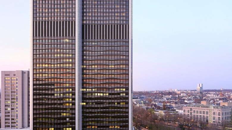 "Frankfurt Marriott Hotel Exterior. Images powered by <a href=""http://www.leonardo.com"" target=""_blank"" rel=""noopener"">Leonardo</a>."