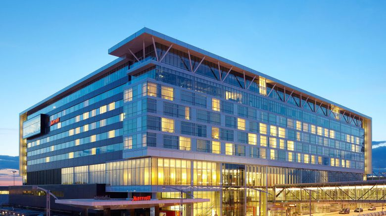 """Montreal Airport Marriott In Terminal Exterior. Images powered by <a href=""""http://www.leonardo.com"""" target=""""_blank"""" rel=""""noopener"""">Leonardo</a>."""