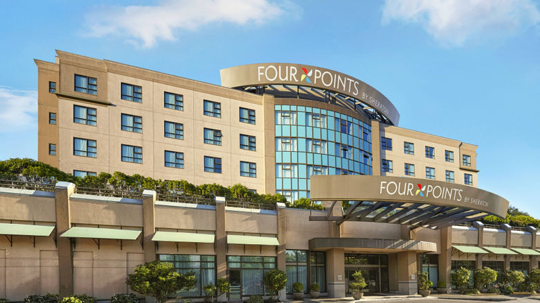 """Four Points by Sheraton Vancouver Arpt Exterior. Images powered by <a href=""""http://www.leonardo.com"""" target=""""_blank"""" rel=""""noopener"""">Leonardo</a>."""