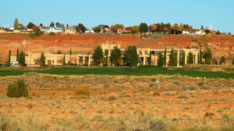 """Courtyard Page at Lake Powell Exterior. Images powered by <a href=""""http://www.leonardo.com"""" target=""""_blank"""" rel=""""noopener"""">Leonardo</a>."""