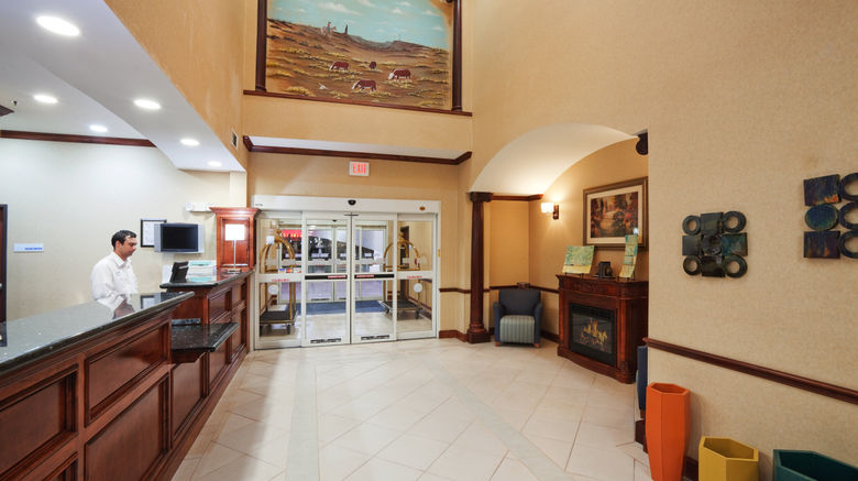 """Holiday Inn Express Hotel  and  Suites Woodw Exterior. Images powered by <a href=""""http://www.leonardo.com"""" target=""""_blank"""" rel=""""noopener"""">Leonardo</a>."""