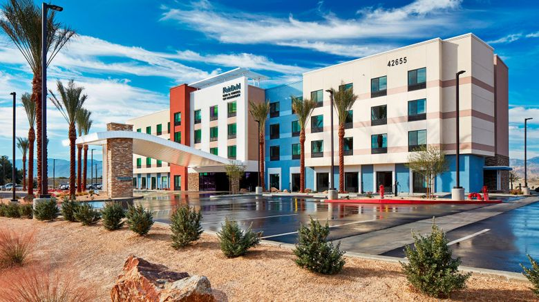 """Fairfield Inn  and  Suites Indio Exterior. Images powered by <a href=""""http://www.leonardo.com"""" target=""""_blank"""" rel=""""noopener"""">Leonardo</a>."""