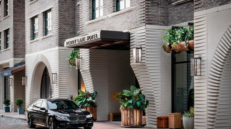 """Perry Lane Hotel, a Luxury Collection Exterior. Images powered by <a href=""""http://www.leonardo.com"""" target=""""_blank"""" rel=""""noopener"""">Leonardo</a>."""