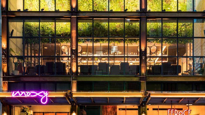 "Moxy NYC Chelsea Exterior. Images powered by <a href=""http://www.leonardo.com"" target=""_blank"" rel=""noopener"">Leonardo</a>."