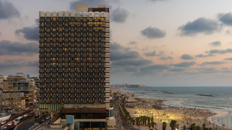 "Herods Hotel Tel Aviv Exterior. Images powered by <a href=""http://www.leonardo.com"" target=""_blank"" rel=""noopener"">Leonardo</a>."