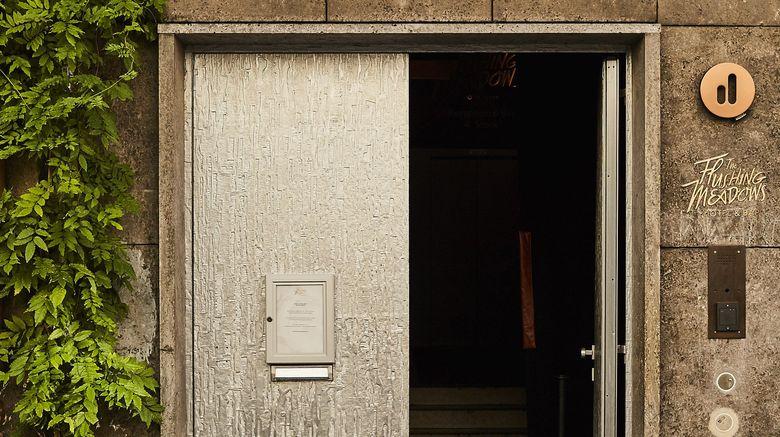 "The Flushing Meadows Hotel Exterior. Images powered by <a href=""http://www.leonardo.com"" target=""_blank"" rel=""noopener"">Leonardo</a>."