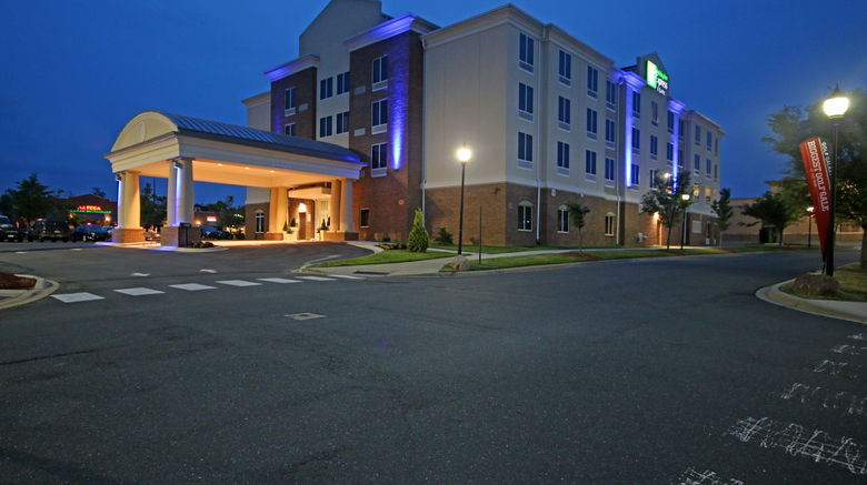 """Holiday Inn Express  and  Suites Charlotte N Exterior. Images powered by <a href=""""http://www.leonardo.com"""" target=""""_blank"""" rel=""""noopener"""">Leonardo</a>."""